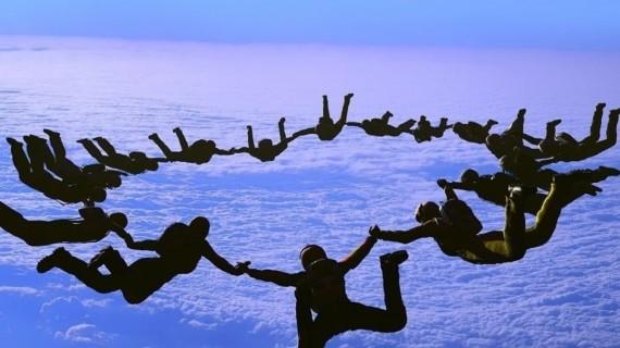 sky diving circle